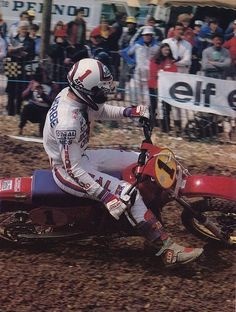 André malherbe # Honda 1 # motocross # Mx # vintage # 80's