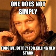 """I don't get this, but my boyfriend loves this show and was VERY upset by this. Every time Joffrey comes on the screen he said """"I hope he dies soon."""""""