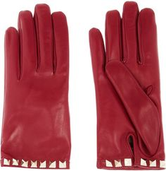 Pin for Later: Winter Accessories So Cute You Won't Mind Bundling Up a Bit Valentino Stud-Embellished Leather Gloves Valentino Stud-Embellished Leather Gloves (£257)