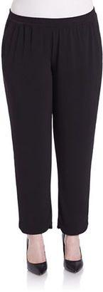 Grace Elements Plus Plus Pleated Knit Pants - Shop for women's Pants - Black Pants