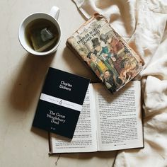Tea, Coffee, and Books: Photo Charles Dickens Books, Books To Read, My Books, Book Aesthetic, Angel Aesthetic, Oliver Twist, Coffee And Books, Book Nooks, Book Photography