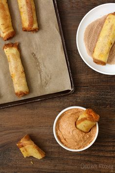 Pumpkin Cheesecake French Toast Roll Ups with Pumpkin Spice Dipping Sauce - what a great way to start the morning as fall gets closer