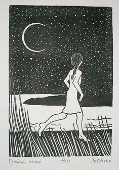 Dream river Linocut edition of 20