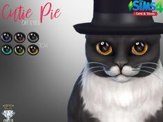 Realistic Cat Eyes in 10 Colors. Found in TSR Category 'Sims 4 Cats Accessories'