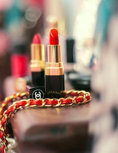 red Chanel lipstick