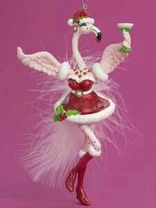 Santa's Little Helpbird Flirty Feathers Coastal Christmas Decor, Pink Christmas, Christmas Colors, Christmas Holidays, Christmas Decorations, Christmas Ornaments, Flamingo Decor, Flamingo Gifts, Plastic Pink Flamingos