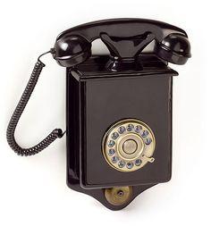 Telefono de Pared Antiguo Negro   Material: Poli Resina Antiguo,Negro,Pared,Telefono... Eur:66 / $87.78