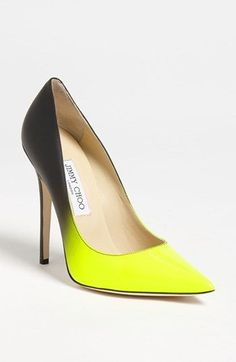 Bright & fun! Jimmy Choo Anouk Dégradé Point Pump