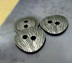 Guitar Pick Metal Buttons , Gunmetal Color , 2 Holes , 0.51 inch , 10 pcs by Lyanwood, $4.00