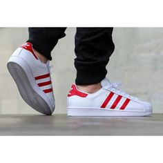 "online retailer 61f2d 90b7e You can cop the adidas Superstar Foundation ""Scarlet Red"" today!"
