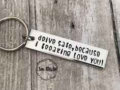 EJY Kreativer Buchstabe Drive Safe I Love You Schl/üsselbund Geschenke f/ür den Vatertag