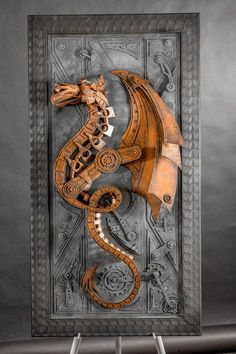 Concept Modeling For Metallic Sculpture : – Picture : – Description Steampunk Dragon by Vintedge artworks – Lance Oscarson -Read More – Design Steampunk, Steampunk Kunst, Steampunk Fashion, Steampunk Diy, Steampunk Clothing, Steampunk Necklace, Gothic Fashion, Steampunk Artwork, Fashion Fashion
