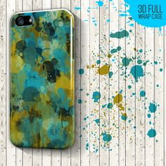 Green and Blue Color Splash for iPhone 6 case, iPhone 6 Plus case - iPhone 5 case - Samsung Galaxy S case - Galaxy S4, Galaxy Mini Case // High quality glossy color full wrap phone case €15.99 EUR // Worldwide shipping