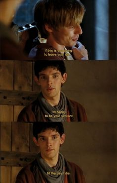 And this is the moment we realize Merlin's never been in it for anything other than to be happy helping his best friend.