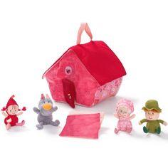 La maison d'activités Chaperon Rouge de la marque Lilliputiens pourra être emmenée partout grâce à sa poignée sur le dessus. Elle héberge le Petit Chaperon rouge, le loup, la grand-mère et le chasseur. Ainsi, votre enfant pourra jouer et s'amuser à imaginer des histoires à l'infini.
