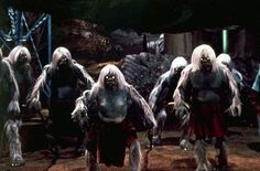 To put a final nail in the coffin of our liking the Morlocks, he has the time traveler witness them eating dead Eloi. Description from gwthomas.org. I searched for this on bing.com/images