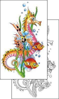 Sea-creature Tattoo g1f-00418