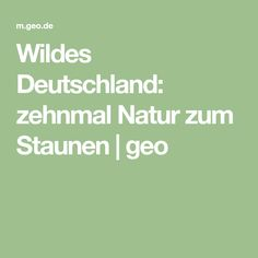 Wildes Deutschland: zehnmal Natur zum Staunen | geo