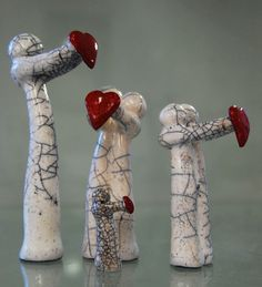 Minature raku figure by MartinONeillceramics on Etsy, £14.50