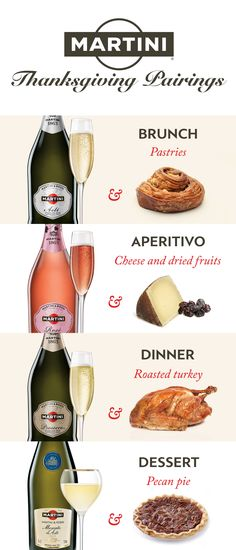 Find the perfect food and wine pairings for your Thanksgiving celebration. There's a sparkling wine for every course of your day.