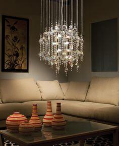 Crystal chandelier from Elgo Lighting