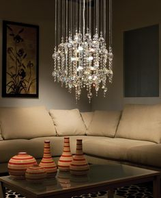 Crystal chandelier from Elgo Lighting
