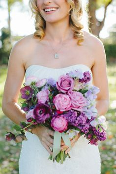 love the different tones of purple in this bouquet