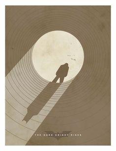 The Dark Knigth Rises, minimalist movie posters