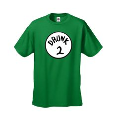 Funny T-shirt Mens Drunk 2 Novelty T-Shirt Green - Size L