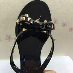 0ca48c19bd3b Details about New Women s Sandal Thong Flip Flop Studded Bow Comfort Slipper