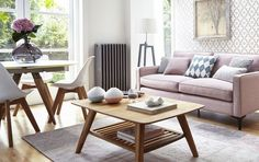 Consider design layout and storage to create a stunning scheme in a small living room. Small Living Room Design, Small Living Rooms, Living Room Sofa, Home Living Room, Living Room Designs, Living Room Decor, Dining Room, Small Lounge, Small Sofa