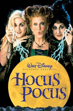 The 1993 film Hocus Pocus, starring Bette Midler, Sarah Jessica Parker, and Kathy Najimy, is to be rebooted as a TV movie. Hocus Pocus Dvd, Hocus Pocus Movie, Disney Dvd, Film Disney, 90s Disney Movies, 90s Kids Movies, Disney Channel Movies, Funny Disney, Old Movies
