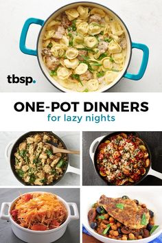 For those nights when you just don't feel like cooking, these one-pot dinners are the answer to your holiday-craziness. Best of all: there's only one dish to wash. Crockpot Recipes, Cooking Recipes, Healthy Recipes, Cooking Beef, Camping Cooking, Cooking Games, Cooking Broccoli, Cooking Corn, Deserts