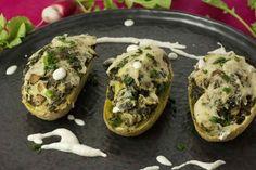 Pommes de Terre Farcies Kale-Echalotes [Vegan]