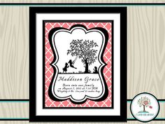 Personalized Nursery Decor Art Print for a baby girl by CopperLensArtistry, $15.00