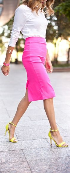 Pencil skirt are always a yes- the last one you all sent me was stretchy- but it is just a little too big. I can still wear it- but I just wanted to note it here if that helps with sizing. LOVE PINK!
