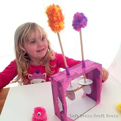 Googly Monster Kinetic Sculpture is a fun way to teach kids kinetics, the study of how forces make things move. Perfect STEM and STEAM skills builder. School Age Activities, Steam Activities, Diy For Kids, Crafts For Kids, Brain Craft, Diy And Crafts, Arts And Crafts, Ways Of Learning, Automata
