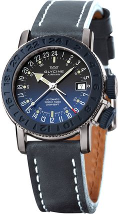 Glycine Watch Airman 18 Sphair Blue #bezel-unidirectional #bracelet-strap-leather #brand-glycine #case-depth-10-25mm #case-material-steel #case-width-39mm #date-yes #delivery-timescale-call-us #dial-colour-blue #gender-mens #gmt-yes #movement-automatic #official-stockist-for-glycine-watches #packaging-glycine-watch-packaging #subcat-airman #subcat-glycine-gmt #supplier-model-no-3928-18-lb8b-gmt #warranty-glycine-official-2-year-guarantee #water-resistant-200m #world-time-yes