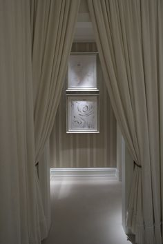 into the dressing room. Dressing Room Closet, Dressing Rooms, Closet Vanity, Interior Architecture, Interior Design, Entry Hall, Entrance, Window Dressings, Soft Furnishings