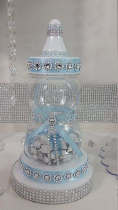 Baby Shower Centerpiece For Prince Baby by PlatinumDiaperCakes