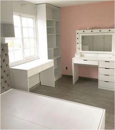 Room Design Bedroom, Room Ideas Bedroom, Home Room Design, Home Decor Bedroom, Beauty Room Decor, Dressing Room Design, Bedroom Decor For Teen Girls, Dream Rooms, House Rooms