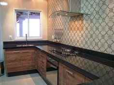 A casa da Mi: A cozinha completa! Modern Kitchen Cabinets, Kitchen Furniture, New Kitchen, Kitchen Decor, Pebble Garden, Industrial House, Kitchen Organization, Kitchen Design, Modern Design