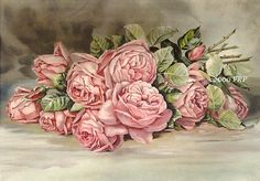 PRINT FREE SHIP Best Victorian Pink Roses by VictorianRosePrints, $11.99