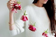 Those allergic to heart-shaped things will enjoy the natural and fragrant rose garland DIY found on a pair & a spare. 7 More Charming Valentine's Day DIY Decor Ideas (You Can Enjoy All Year)