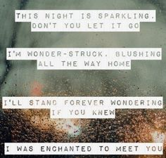 Enchanted By: Taylor Swift