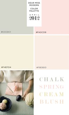Dear Miss Modern April Color Palette