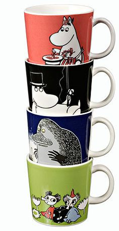Moomintroll Moomin mug from Arabia by Tove Jansson, Tove Slotte Scandinavian Kitchen, Scandinavian Design, Moomin Mugs, Tove Jansson, Online Scrapbook, Moomin Valley, Miffy, Tea Cup Set, Swedish Design