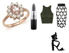 """Untitled #3"" by limartin on Polyvore featuring Zana Bayne, Topshop, MAC Cosmetics and Bloomingdale's"