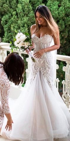 mermaid wedding dresses trendy strapless sweetheart neck flattering steven khalil