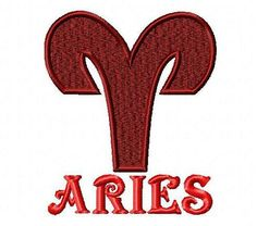 Aries embroidery design. Horoscope embroidery